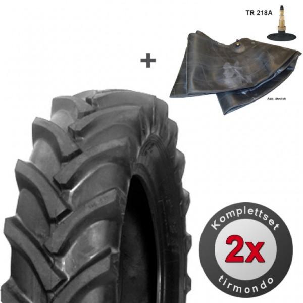 Set 2x AS-REIFEN + SCHLÄUCHE 16.9-34 Traktor-/Schlepperreifen 12PR - hohe Traglast